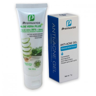 Premacos Anti-Acne Gel 7 g + Aloe Vera Plus 50 g