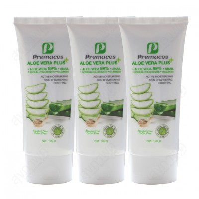 Premacos Aloe Vera Plus Gel 100 g pack X3