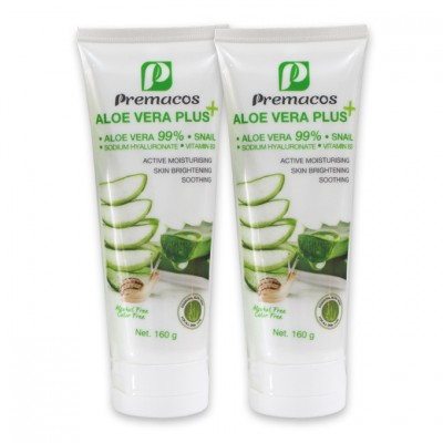 Premacos Aloe Vera Plus Gel 160 g Pack X2