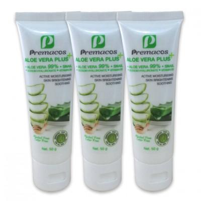 Premacos Aloe Vera Plus Gel 50 g Pack X3