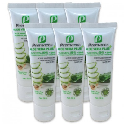 Premacos Aloe Vera Plus Gel 50 g Pack X6