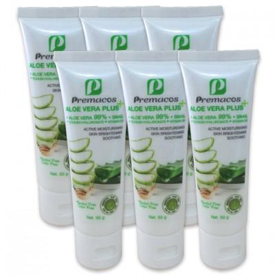 Premacos Aloe Vera Plus Gel 50 g Pack X6